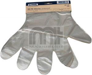 Tankstation handschoen op kaart